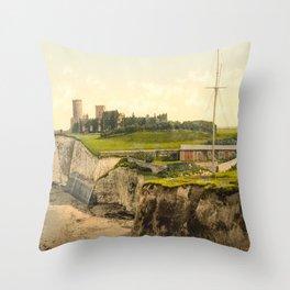 Vintage Photo-Print of Kingsgate Castle (1900) Throw Pillow