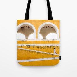 Colonial Mexico, Izamal in Yellow #buyart #society6 #decor Tote Bag