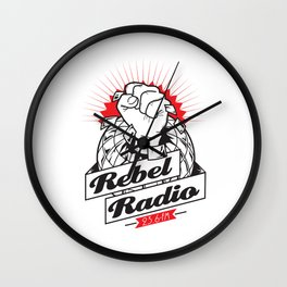 Rebel Radio Wall Clock