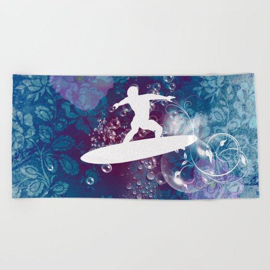 Sport, surfboarder Beach Towel