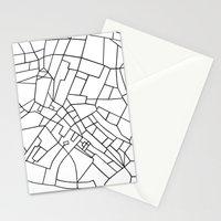 London Road Blocks White Stationery Cards