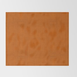 """Orange Burlap Texture Plane"" Throw Blanket"