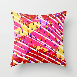 Carnival Confetti Coming Down Throw Pillow