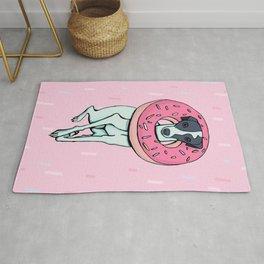 Iggy with a Doughnut - Italian Greyhound - Sweet - Sprinkles Rug