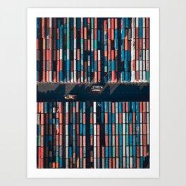 Bookshelf of Containers Art Print