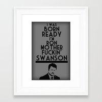 ron swanson Framed Art Prints featuring Ron..Swanson by NKlein Design