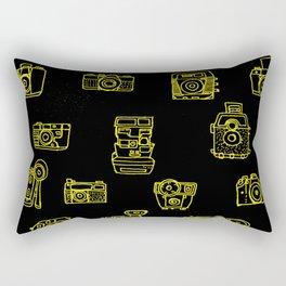 Cameras: Yellow - pop art illustration Rectangular Pillow