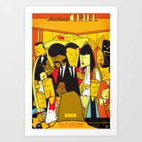pulp Art Prints featuring Pulp Fiction by Ale Giorgini