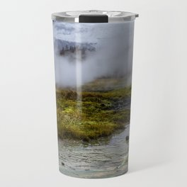 Colorful Mineral Deposits at a Geyser at Strokker Geysir Field in the Golden Circle of Iceland Travel Mug