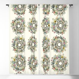 Circle of Life Cream Blackout Curtain