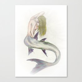Mermaid Passion in Color Canvas Print