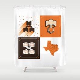 Austin, Texas Orange Shower Curtain