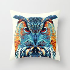 Owl - Colorful Animals Throw Pillow