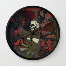 a fixed smile Wall Clock