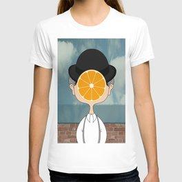 Orange Magritte T-shirt