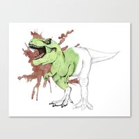 trex Canvas Prints featuring tRex by Sophianne B. Brault