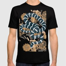 SNAKE Black MEDIUM Mens Fitted Tee