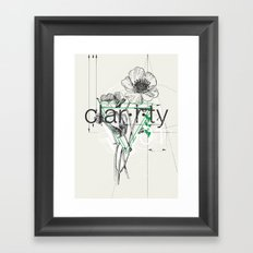 Clarity Framed Art Print