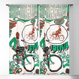 Motobécane - Vintage French Cycling Poster Blackout Curtain