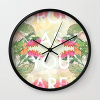 Grow As You Are Wall Clock
