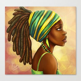 Green Yellow Wrap Canvas Print