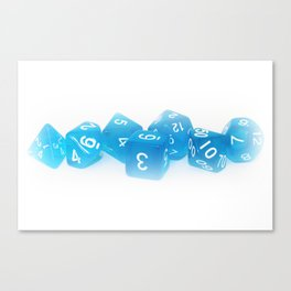 Blue Gaming Dice Canvas Print