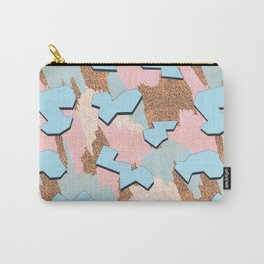 Memphis Pattern - Peach Carry-All Pouch