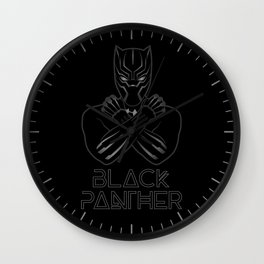 Black Panther crossed arms Wall Clock