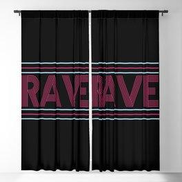 rave prism logo Blackout Curtain