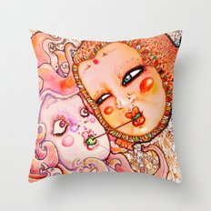 Octopus Love Throw Pillow