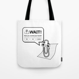 Wash Your Hands - Paperclip Office Assistant Tote Bag