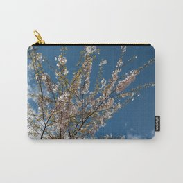 Joy of life! Spring pink cherry blossom tree against blue sky.  Carry-All Pouch