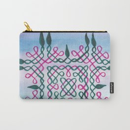 Swirls of Pink and green Carry-All Pouch