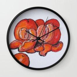 Juicy Tangerines Wall Clock