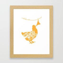 little naughty hen Framed Art Print