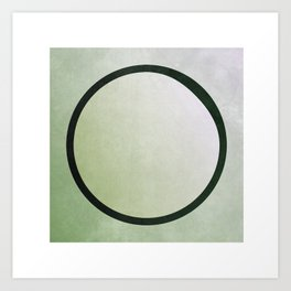 bruised circle Art Print