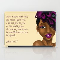 scripture iPad Cases featuring Splash of Color (with scripture) by RM2 Designs