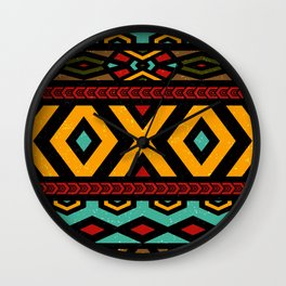 Tribal dance Wall Clock