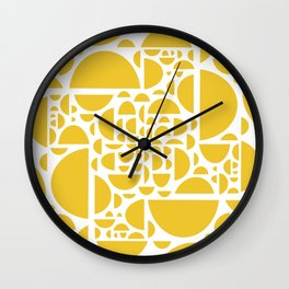 Mid Century Lemon Wedges  Wall Clock