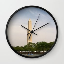 Paddling Up to the Washington Monument Wall Clock