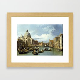 The Entrance to the Grand Canal, Venice Framed Art Print