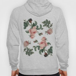 Rose Garden Butterfly Pink on White Hoody