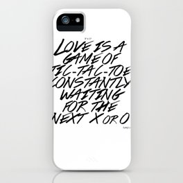 Love is a game iPhone Case