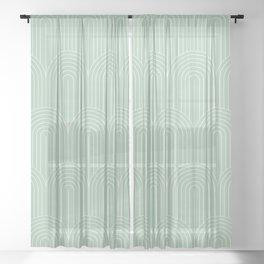 Art Deco Arch Pattern XX Sheer Curtain