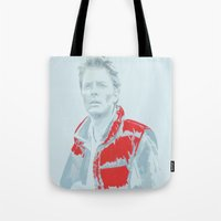 mcfly Tote Bags featuring Hello? McFly? by Davidjonesart