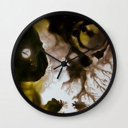 Alien embryo, acrylic on canvas Wall Clock