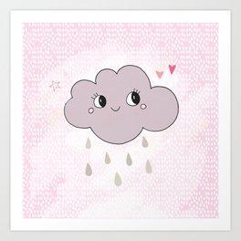 Clood Pink Art Print