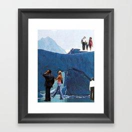 walking on ice Framed Art Print