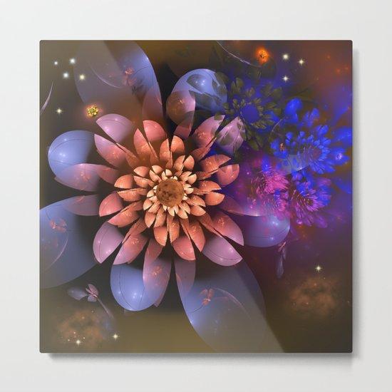 Cosmic flowers in universe Metal Print
