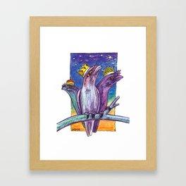 Christmas Frogmouth Kings Framed Art Print